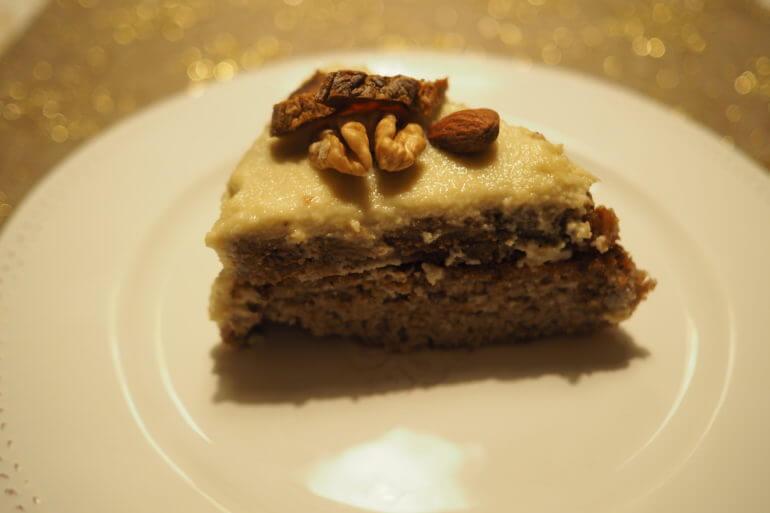 Веганский безглютеновый инжирный торт