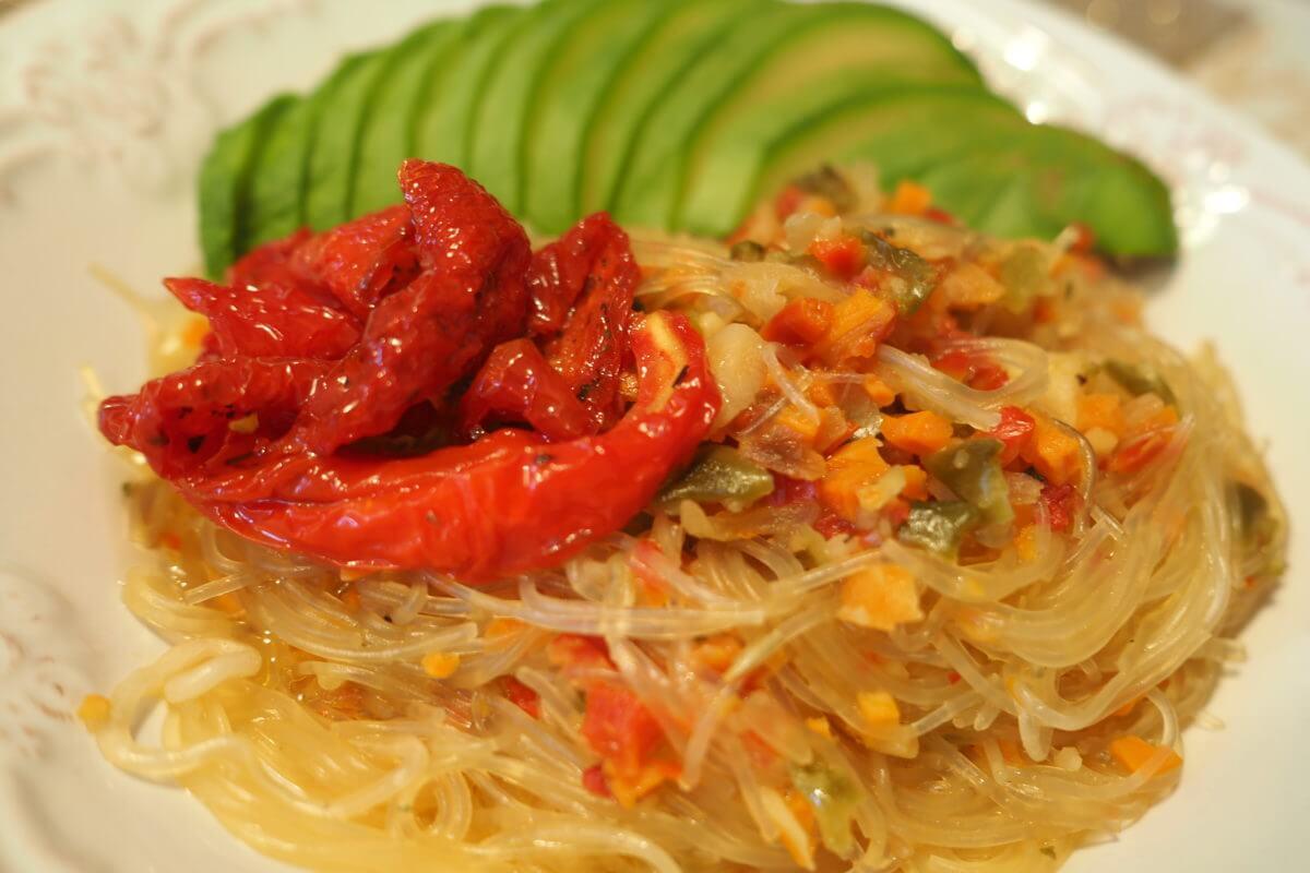 Фунчоза с мясом и овощами пошаговый рецепт
